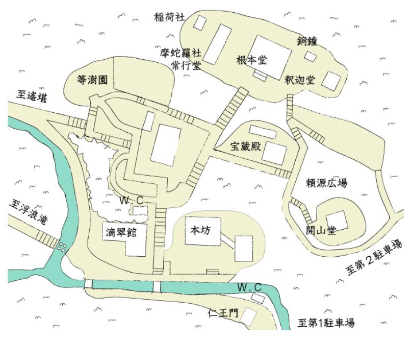 鰐淵寺地圖